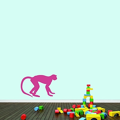 SweetumsWallDecals Monkey Wall Decal; Hot Pink