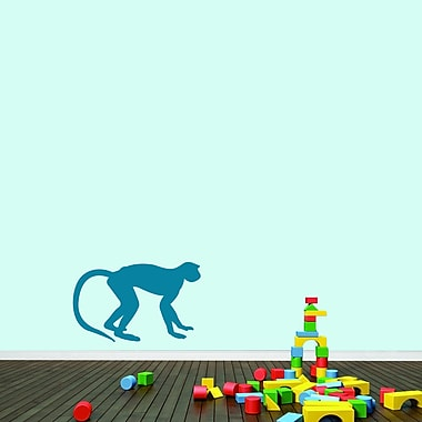 SweetumsWallDecals Monkey Wall Decal; Teal