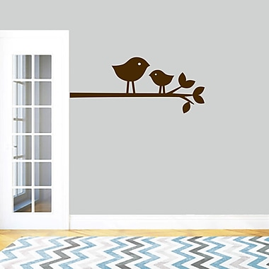 SweetumsWallDecals Birds on a Branch Wall Decal; Brown