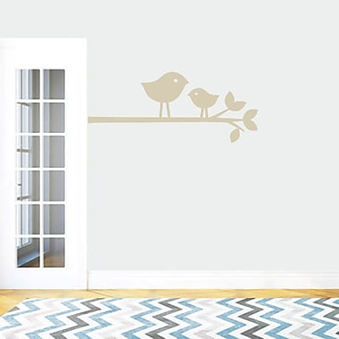 SweetumsWallDecals Birds on a Branch Wall Decal; Light Beige