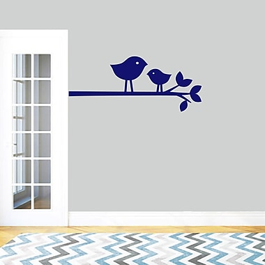 SweetumsWallDecals Birds on a Branch Wall Decal; Navy