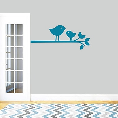 SweetumsWallDecals Birds on a Branch Wall Decal; Teal