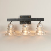 17 Stories Calumet 3-Light Vanity Light; Old Silver