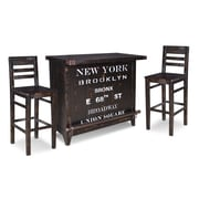 17 Stories Sandie Bar Set w/ Wine Storage by