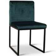 17 Stories Sofia Side Chair; Polyester - Dark Green