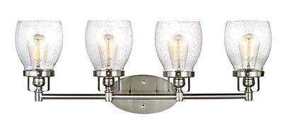 17 Stories Yesler Brushed Nickel 4-Light Vanity Light