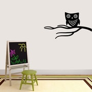 SweetumsWallDecals Cute Owl on Branch Wall Decal; Black