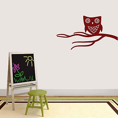 SweetumsWallDecals Cute Owl on Branch Wall Decal; Cranberry