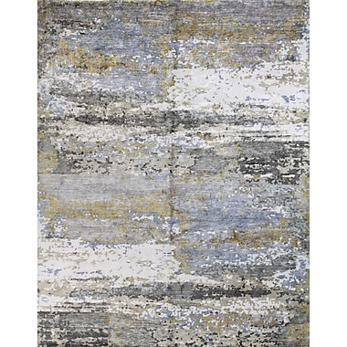 17 Stories Kaylee Hand-Knotted Multi-color Area Rug; 6' x 9'
