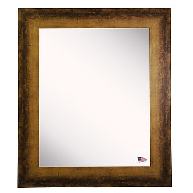 17 Stories Rectangle Tarnished Bronze Wall Mirror; 32.5'' H X 26.5'' W