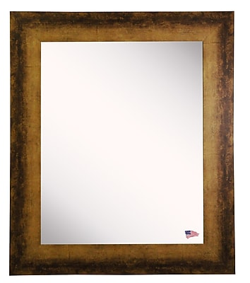 17 Stories Rectangle Tarnished Bronze Wall Mirror; 25.5'' H X 21.5'' W
