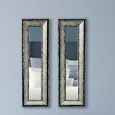 17 Stories Modern Panel Mirror (Set of 2); 33.5'' H x 12.5'' W x 1.13 D