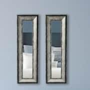 17 Stories Modern Panel Mirror (Set of 2); 30.5'' H x 12.5'' W x 1.13D