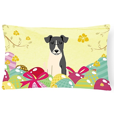 The Holiday Aisle Easter Eggs Smooth Fox Terrier Lumbar Pillow