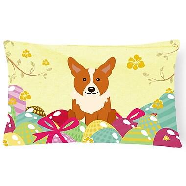 The Holiday Aisle Easter Eggs Corgi Lumbar Pillow