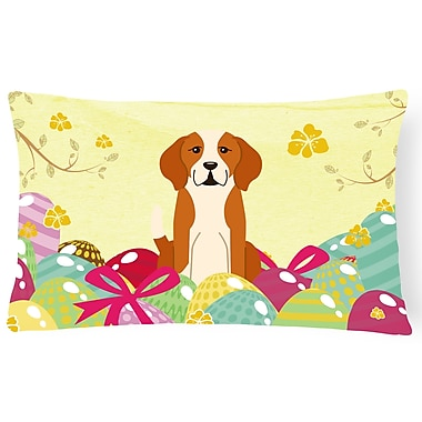 The Holiday Aisle Easter Eggs English Foxhound Lumbar Pillow