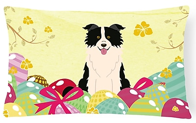 The Holiday Aisle Easter Eggs Border Collie Rectangle Lumbar Pillow
