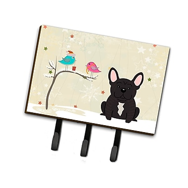 The Holiday Aisle Christmas French Bulldog Brindle Leash or Key Holder