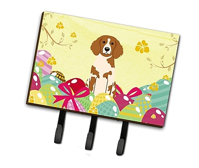 The Holiday Aisle Easter Eggs Brittany Spaniel Leash or Key Holder