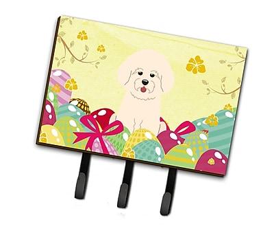 The Holiday Aisle Easter Eggs Bichon Frise Leash or Key Holder