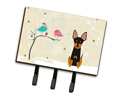 The Holiday Aisle Christmas English Toy Terrier Leash or Key Holder