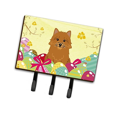 The Holiday Aisle Easter Eggs Norwich Terrier Leash or Key Holder