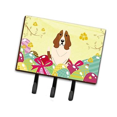 The Holiday Aisle Easter Eggs Basset Hound Leash or Key Holder