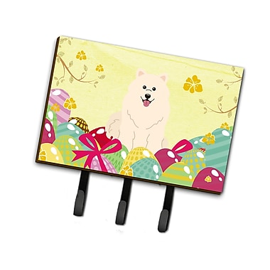 The Holiday Aisle Easter Eggs Samoyed Leash or Key Holder