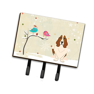 The Holiday Aisle Christmas Presents Between Friends Basset Hound Leash or Key Holder