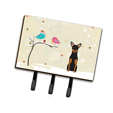 The Holiday Aisle Christmas Manchester Terrier Leash or Key Holder