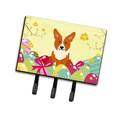 The Holiday Aisle Easter Eggs Corgi Leash or Key Holder