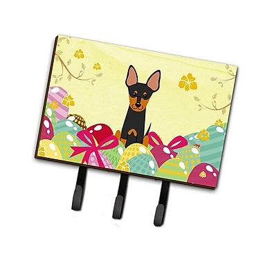The Holiday Aisle Easter Eggs English Toy Terrier Leash or Key Holder