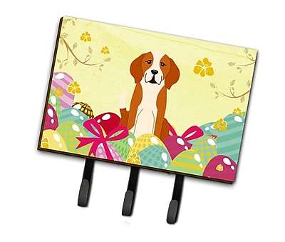 The Holiday Aisle Easter Eggs English Foxhound Leash or Key Holder