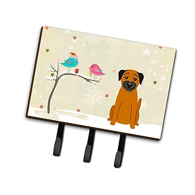 The Holiday Aisle Christmas Presents Between Friends Border Terrier Leash or Key Holder