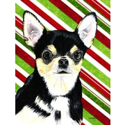 The Holiday Aisle Chihuahua Candy Cane Holiday Christmas 2-Sided Garden Flag