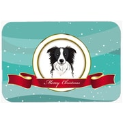 The Holiday Aisle Border Collie Merry Christmas Glass Cutting Board
