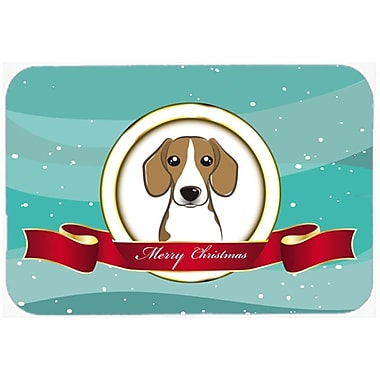 The Holiday Aisle Beagle Merry Christmas Glass Cutting Board