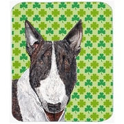 The Holiday Aisle Bull Terrier Rectangle St Patrick's Irish Glass Cutting Board