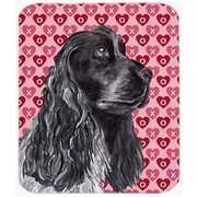 The Holiday Aisle Cocker Spaniel Valentine's Love Rectangle Glass Cutting Board