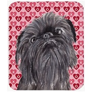 The Holiday Aisle Brussels Griffon Valentine's Love Glass Cutting Board