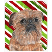 The Holiday Aisle Brussels Griffon Candy Cane Christmas Rectangle Glass Cutting Board