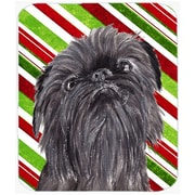 The Holiday Aisle Brussels Griffon Candy Cane Christmas Glass Cutting Board