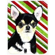 The Holiday Aisle Chihuahua Candy Cane Holiday Christmas Rectangle Glass Cutting Board