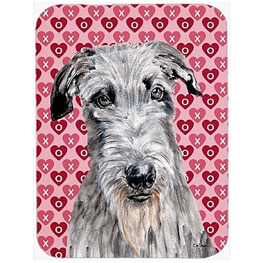 The Holiday Aisle Scottish Deerhound Hearts and Love Glass Cutting Board