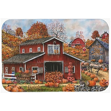 The Holiday Aisle Pick Your Own Pumpkins Fall Glass Cutting Board