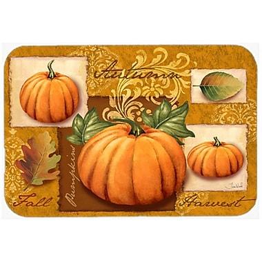 The Holiday Aisle Fall Harvest Pumpkin Glass Cutting Board