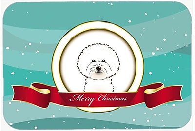 The Holiday Aisle Bichon Frise Merry Christmas Glass Cutting Board