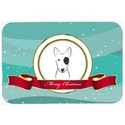 The Holiday Aisle Bull Terrier Merry Christmas Glass Cutting Board