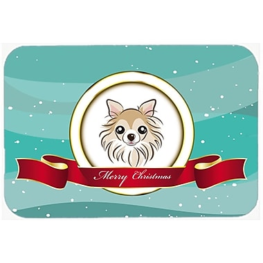 The Holiday Aisle Chihuahua Merry Christmas Glass Cutting Board