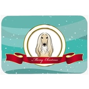 The Holiday Aisle Afghan Hound Merry Christmas Glass Cutting Board